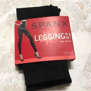 Spanx assets high waisted leggings black Large